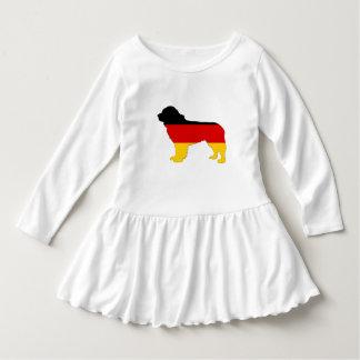 Vestido Bandeira alemão - cão de Terra Nova
