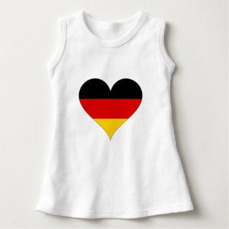 Vestido Bandeira alemão - coração