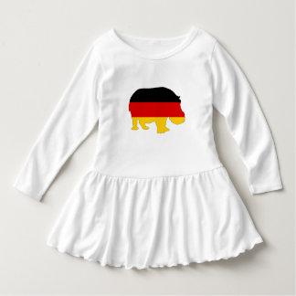 Vestido Bandeira alemão - hipopótamo
