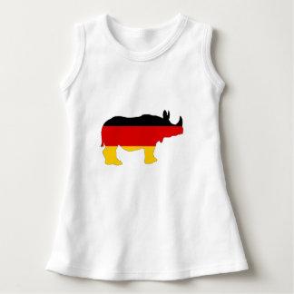 Vestido Bandeira alemão - rinoceronte