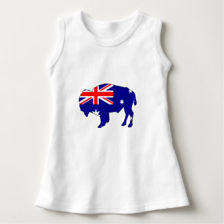 Vestido Bandeira australiana - bisonte