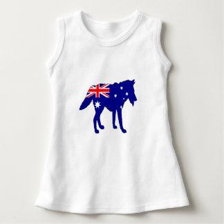 Vestido Bandeira australiana - lobo