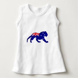 Vestido Bandeira australiana - tigre