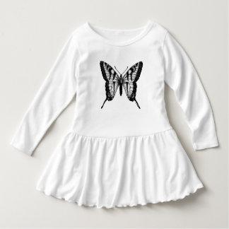 Vestido bonito das meninas das asas da borboleta
