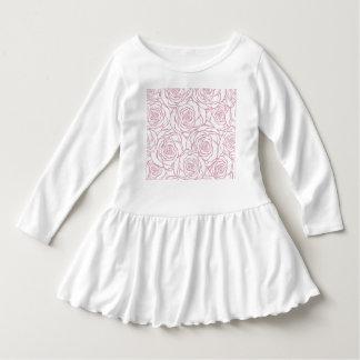 Vestido bonito, floral.pink, branco, peônias, femininos,