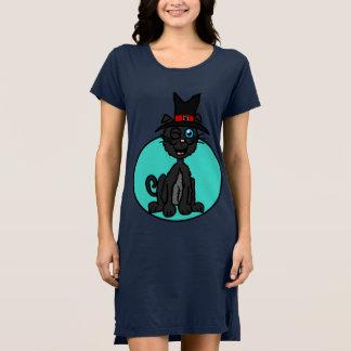Vestido Bruxa do gato preto