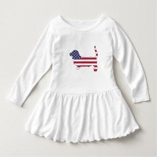 """Vestido Cão de Basset """"bandeira americana """""""