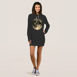 Vestido Círculos dourados da colheita da lua