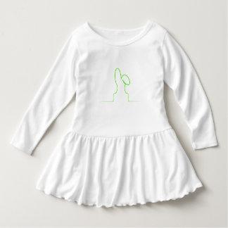 Vestido Contorno de uma luz da lebre - verde
