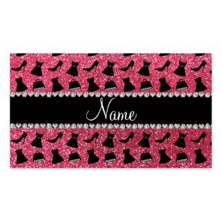 Vestido cor-de-rosa fúcsia conhecido feito sob enc cartões de visitas