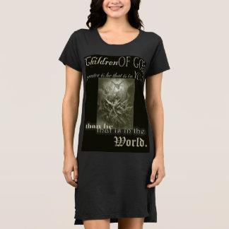 Vestido Crianças do t-shirt longo do Nightgown do deus