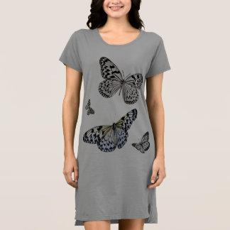 Vestido da camisa da borboleta T