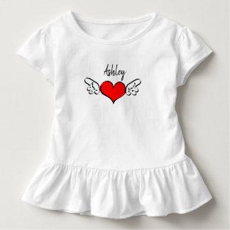 Camiseta Infantil Vestido da camisa do nome do dia dos namorados das