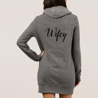 Vestido da camisola de Wifey