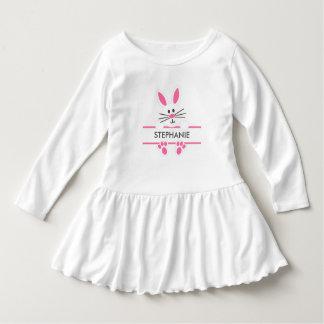 Vestido da criança do coelhinho da Páscoa Camiseta