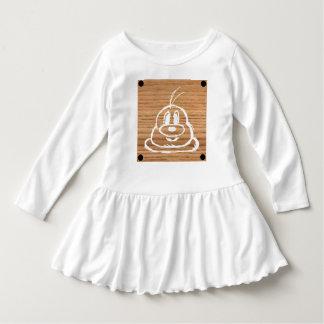 Vestido de madeira 1 do plissado da criança do 鮑鮑
