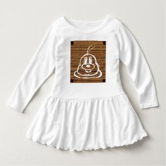 Vestido de madeira 2 do plissado da criança do 鮑鮑