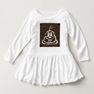 Vestido de madeira 3 do plissado da criança do 鮑鮑