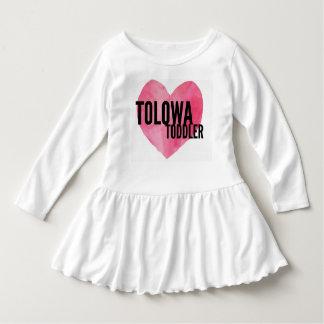 """Vestido De """"vestido do plissado da criança Tolowa"""""""
