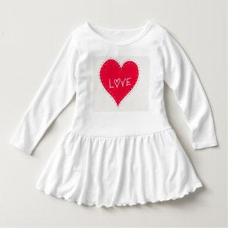 Vestido do amor para meninas
