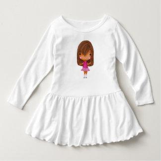 Vestido do bebê com uma menina