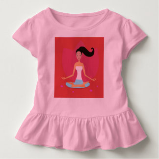 Vestido do bebê: menina da ioga