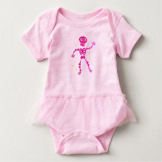 Vestido do corpo do tutu do bebê com esqueleto