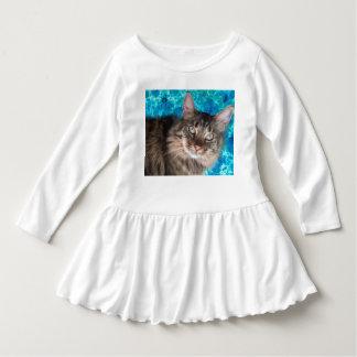 Vestido do gato da criança