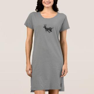 Vestido do Natal do design dos cervos