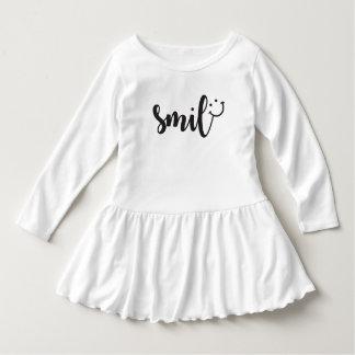 Vestido do plissado da criança da panda do sorriso
