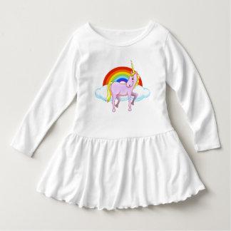 Vestido do plissado da criança do unicórnio