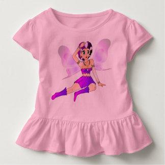 Vestido do rosa de bebê com plissados