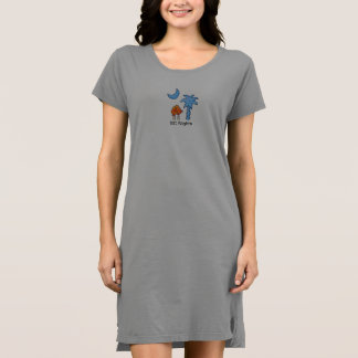 Vestido do t-shirt das mulheres