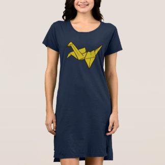 Vestido do t-shirt de Origami