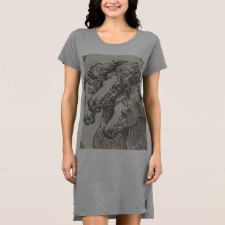 Vestido do t-shirt do roupa do amante do cavalo