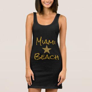 Vestido do tanque da estrela de Miami Beach