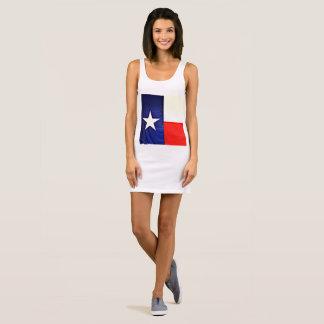 Vestido do tanque do jérsei da bandeira do Texas