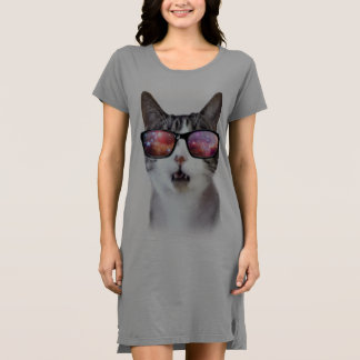 """Vestido Do """"vestido do t-shirt das mulheres do gato do"""