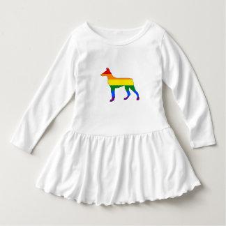 Vestido Doberman do arco-íris