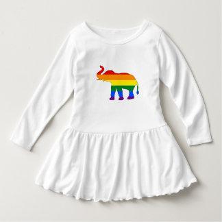 Vestido Elefante do arco-íris