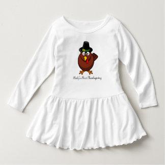 Vestido Equipamento da acção de graças do bebê das meninas
