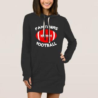 Vestido Equipe vermelha bonito do fan de futebol, jogador