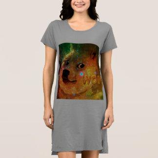 Vestido espaço - doge - shibe - uau doge