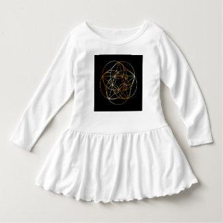 Vestido Espiral de Fibonacci a geometria sagrado