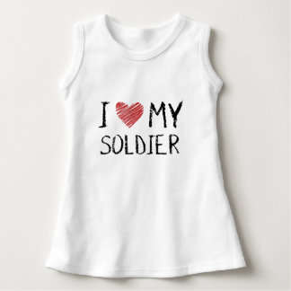 Vestido Eu amo meu soldado