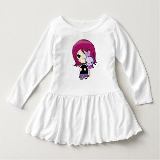 Vestido gótico da menina de Kawaii