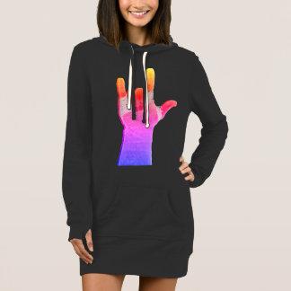 Vestido gráfico do Hoodie de ILY