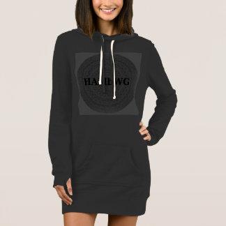 Vestido HAMbWG - logotipo boémio no carvão vegetal