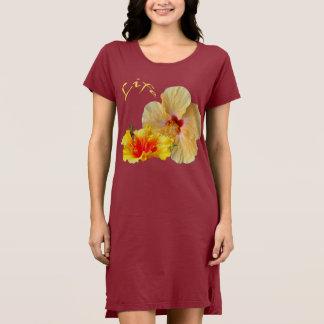 Vestido HIBISCUS do ☼, flor do ☼ da paixão