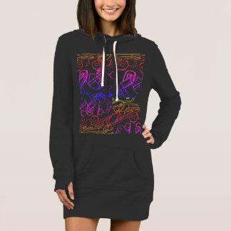 Vestido hoodie pelo DAL